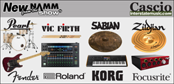 New from the NAMM Show, gear from Pearl, Vic Firth, Sabian, Zildjian, Fender, Roland, Korg, Focusrite & more at Cascio Interstate Music.