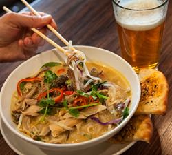 Noodles and Company Thai Hot Pot with Schlafly Pale Ale
