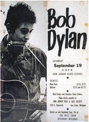 boxing style Bob Dylan Ann Arbor High School concert poster