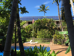 Kalama Terrace condo complex in Kihei generates almost 100% of its electricty from its solar array.