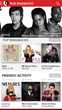 RBT Home page presents latest artist, trends, and what your freinds are listening to