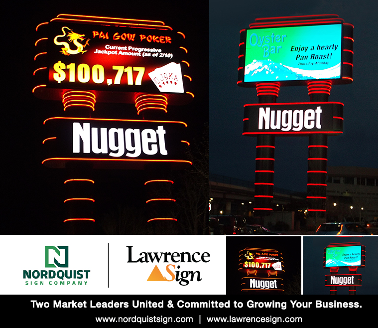 Nordquist Sign Remodels Iconic Pylon Sign For Nugget