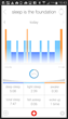 MMT app with Mondaine branding - sleep monitoring