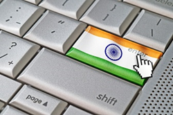 Enter key of a computer that looks like an Indian flag