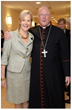 Christina McInerney, President & CEO, The Jerome L. Greene Foundation and His Eminence.