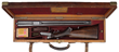 """Man Eating Tiger"" Rifle In Original Beveled Edge Brass-Cornered Oak and Leather Case"