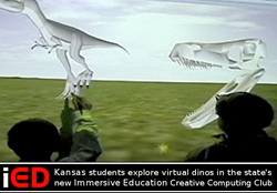 "Kansas students explore virtual dinos in the state's new Immersive Education ""Creative Computing"" Club"