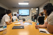 HNTB Corporation guest lecturers address students in airport planning...