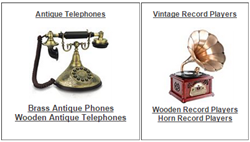 Antique Telephones & Vintage Record Players