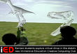 """Students explore virtual dinosaurs in their Immersive Education """"Creative Computing"""" Club"""