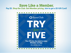 Non-Members invited to shop at Sam's Club® for $5