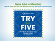 Try for Five: Sam's Club Invites Non-Members to Shop for $5