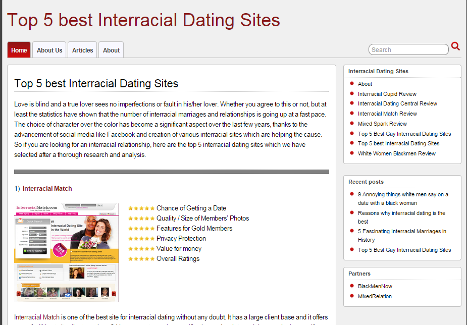 Dating sites by users