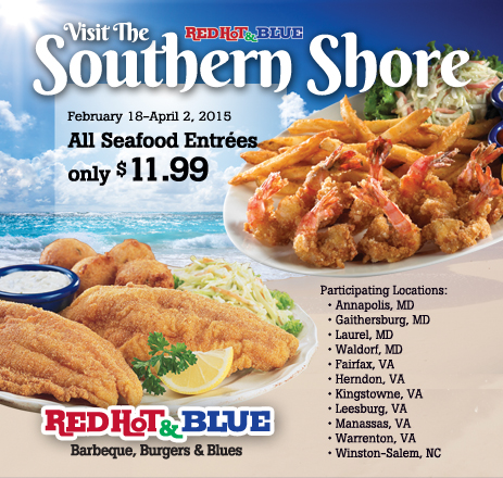 southern seafood limited time menu at red hot blue restaurantssouthern seafood limited time menu at red hot blue restaurants - Blue Restaurant 2015