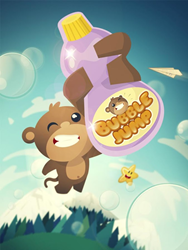 BAM the Monkey in BubbleJump!