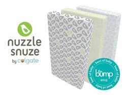 "Innovative.Beautiful.Safe.The Nuzzle Snuze wins TheBump ""Best of Baby 2015"""