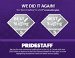 PrideStaff Wins Inavero's Best of Staffing Diamond Awards for Client and Talent Satisfaction