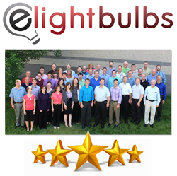 eLightBulbs is the highest rated lighting distributor online, boasting over 50,000 5-star ratings