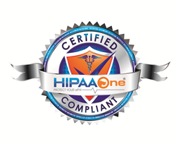 This image appears on web sites configured with the HIPAA One Certified Compliant Seal