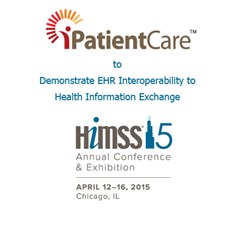 iPatientCare, known for its Ambulatory and Inpatient EHR, announces to demonstrate its EHR products–Ambulatory and Inpatient with Health Information Exchange using IHE profiles at HIMSS15