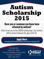 Kelly Law Team Autism Scholarship- 2015