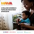 MAMA Milestone: 2 Million Subscribers Reached; Results Show Improved Health Behaviors for Mothers & Babies