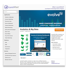 evolve24 LaunchPoint page