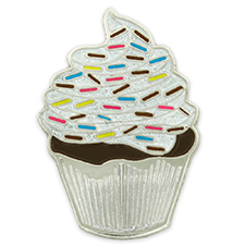 Stock cupcake lapel pin