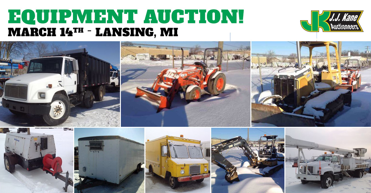Public car and equipment auction lansing mi march 14 2015 for Motor cars lansing mi