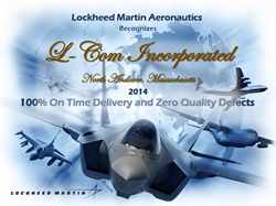 L-com Receives Lockheed Martin Aeronautics Supplier Recognition Award