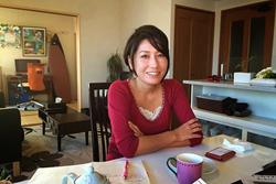 Osakabe in her apartment, November 2014. CREDIT: Devin Stewart, Carnegie Council