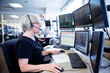 Linda Hill, a critical care nurse, virtually monitors patients from Mercy SafeWatch, the nation's largest single-hub electronic intensive care unit in St. Louis, Missouri.
