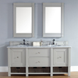 Madison 72″ Double Bathroom Vanity Cabinet In Dove Gray Oak 800-V72-DVG from James Martin Furniture