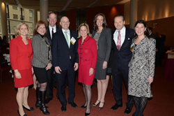 From left to right: Laura Walker, Karen Shaw, Paul Massey, Ron Lo Russo, Jane Lyons, Erin Bond, Robert Knakal and Robin Fisher