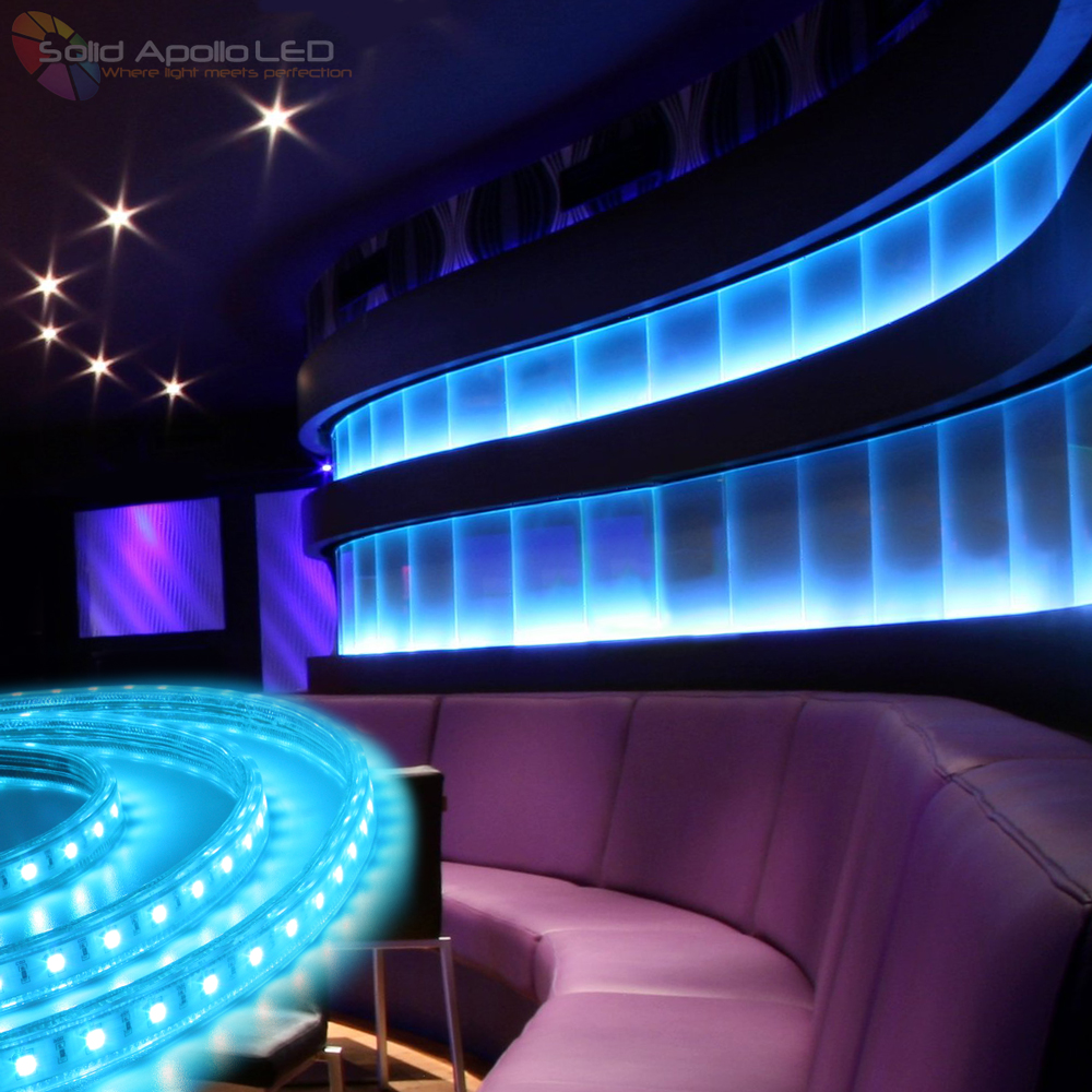 Led strip light now the go to product for lighting glass blocks glass block lighting in a clubcolor changing rgb strip light used around the glass blocks mozeypictures Choice Image