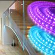 Edge-Lit Glass Stairwell Divider
