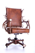 The Peak Antler Company's chair, crafted with real antlers, is an example of the innovative furnishings on display and for sale at the WDC in Jackson Hole.