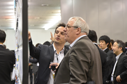 Well-attended poster receptions are among the many venues at SPIE Advanced Lithograpy for networking around new advances in semiconductor technology.