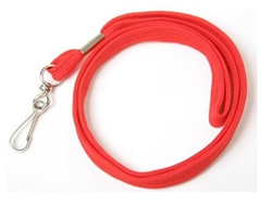 RED COTTEN WHISTLE STRAP