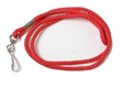RED BRAIDED WHISTLE STRAP