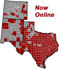TexasFile Coverage Map
