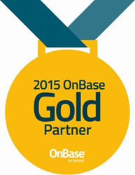 MTS Software Solutions OnBase Gold logo