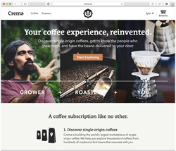 Crema.co Website