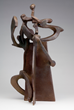 Sculptor Bill Barrett Pinnacle XIX fabricated bronze midsize sculpture 48x26x21