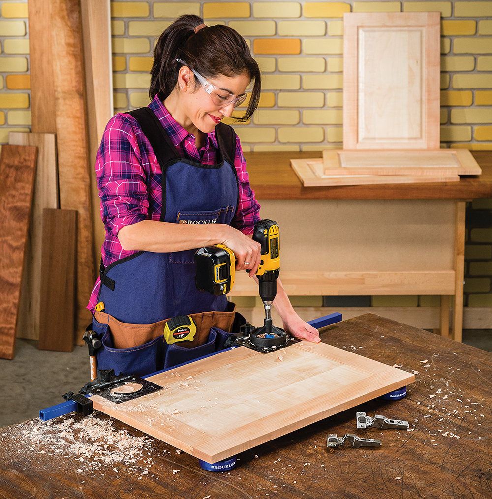 Rockler Simplifies Concealed Hinge Installation Jig It