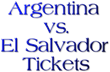 Argentina vs. El Salvador Tickets Fedex Field in Landover, MD: Ticket...