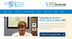 Asheville Audiology Services Website