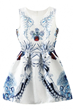 Symmetric Dress, Dazzle Dress, Floral Dress, Sleeveless Dress, Mini Dress
