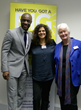 Tim Campbell MBE, Dr Margaret Mountford and Hanan Kattan launch Marketing Mastery for the Bright Ideas Trust