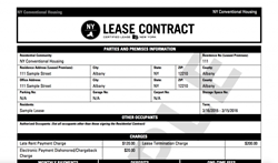 New York Certified Lease